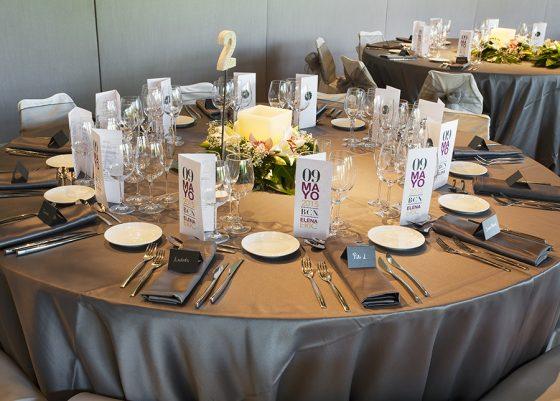 Mesa 2 preparada para boda