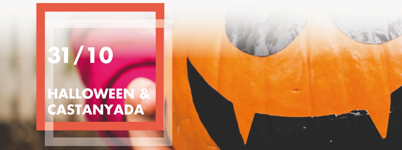 Fotografía con calabaza para Halloween